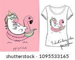 vector t shirt of cute cartoon...   Shutterstock .eps vector #1095533165