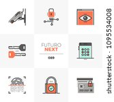 modern flat icons set of... | Shutterstock .eps vector #1095534008