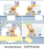 cute templates set for baby... | Shutterstock . vector #109553636