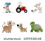 vector illustration of a six... | Shutterstock .eps vector #1095538148