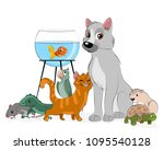 vector illustration of a group... | Shutterstock .eps vector #1095540128