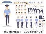 policeman character set. police ...   Shutterstock .eps vector #1095545405