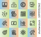 outline money 16 vector icons...