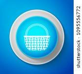 white wicker basket icon... | Shutterstock .eps vector #1095556772