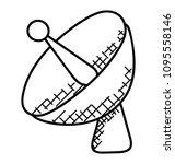 satellite dish for... | Shutterstock .eps vector #1095558146