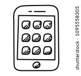 smartphone screen with ux app...