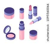 vector isometric cosmetics...   Shutterstock .eps vector #1095560066