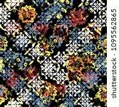seamless pattern patchwork... | Shutterstock . vector #1095562865