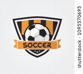 soccer football badge logo... | Shutterstock .eps vector #1095570695