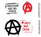 punk spray graffiti stencils... | Shutterstock .eps vector #1095570725