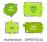 healthy food labels.organic... | Shutterstock .eps vector #1095576212