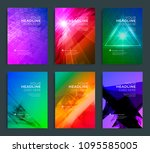 modern abstract annual report ... | Shutterstock .eps vector #1095585005