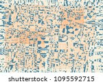 glitch abstract background with ... | Shutterstock .eps vector #1095592715