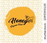 honey bee  sketch logo design... | Shutterstock .eps vector #1095593135
