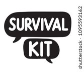 survival kit. vector hand drawn ... | Shutterstock .eps vector #1095593162
