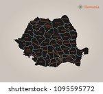 map of romania | Shutterstock .eps vector #1095595772