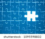 missing jigsaw puzzle piece... | Shutterstock . vector #1095598832