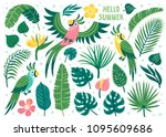 set of cute summer icons ... | Shutterstock .eps vector #1095609686