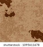 rusty metal background. vector... | Shutterstock .eps vector #1095611678