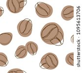 coffee beans seamless coffee... | Shutterstock .eps vector #1095613706