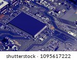 electronic circuit board close... | Shutterstock . vector #1095617222