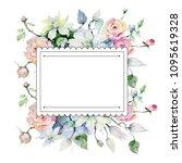 tender bouquet flowers. floral... | Shutterstock . vector #1095619328