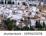 white houses in the andalusian... | Shutterstock . vector #1095623378