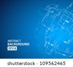 abstract technology background. ... | Shutterstock .eps vector #109562465