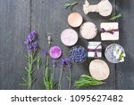 beauty product samples with... | Shutterstock . vector #1095627482