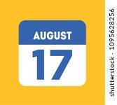 august 17 calendar date... | Shutterstock .eps vector #1095628256