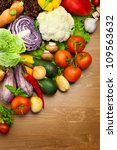 fresh organic vegetables    on... | Shutterstock . vector #109563632