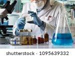 scientist hand cultivating...   Shutterstock . vector #1095639332