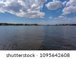 view of lake and clouds in... | Shutterstock . vector #1095642608