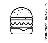burger logo and line hamburger...   Shutterstock .eps vector #1095647276