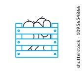 harvesting linear icon concept. ... | Shutterstock .eps vector #1095654866