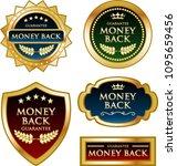 luxury money back golden labels ... | Shutterstock .eps vector #1095659456
