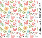 simple seamless pattern with...   Shutterstock .eps vector #1095662102