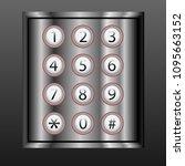 vector phone keypad background | Shutterstock .eps vector #1095663152