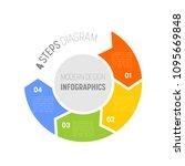 4 step process modern...   Shutterstock .eps vector #1095669848