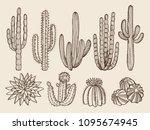 sketch hand drawn illustrations ... | Shutterstock .eps vector #1095674945