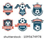 vector emblem of football theme.... | Shutterstock .eps vector #1095674978
