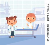 patient at doctor appointment.... | Shutterstock .eps vector #1095675182