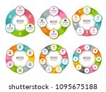 various radial shapes and... | Shutterstock .eps vector #1095675188