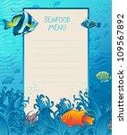 Seafood Menu Design Background...