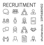 recruitment related vector icon ... | Shutterstock .eps vector #1095680402