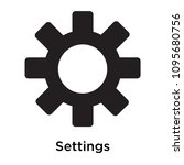 settings icon isolated on white ... | Shutterstock .eps vector #1095680756