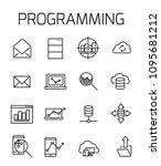 programming related vector icon ... | Shutterstock .eps vector #1095681212
