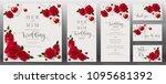 wedding invitation card...   Shutterstock .eps vector #1095681392