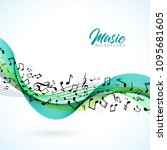 vector music illustration with... | Shutterstock .eps vector #1095681605