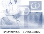 medical concept image x ray   | Shutterstock . vector #1095688802